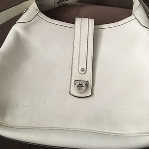 Ferragamo White Shoulder Hobo Purse